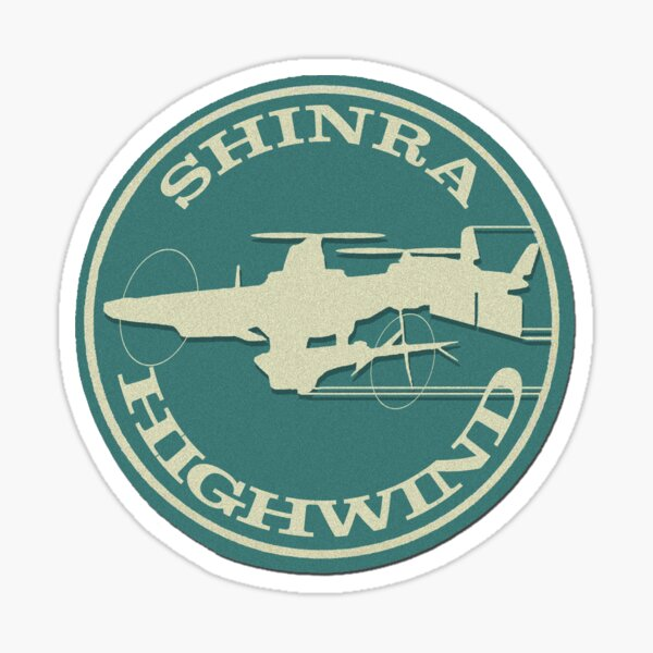SHINRA HIGHWIND - Gaming Luggage Labels Series Sticker