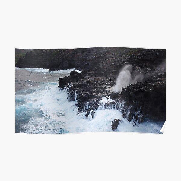 Maui, Blow Hole Nakalele Poster