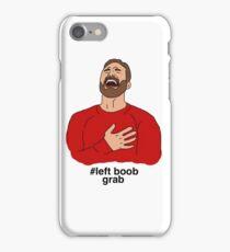 # left boob grab iPhone Case/Skin
