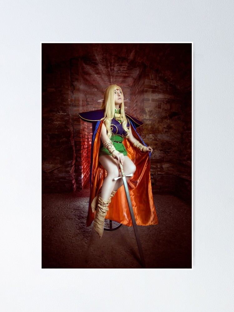 Poster ''Record de guerre de Lodoss, Cosplay Deedlit': autre vue
