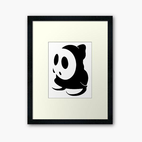 Shy Guy Stencil - Black Framed Art Print