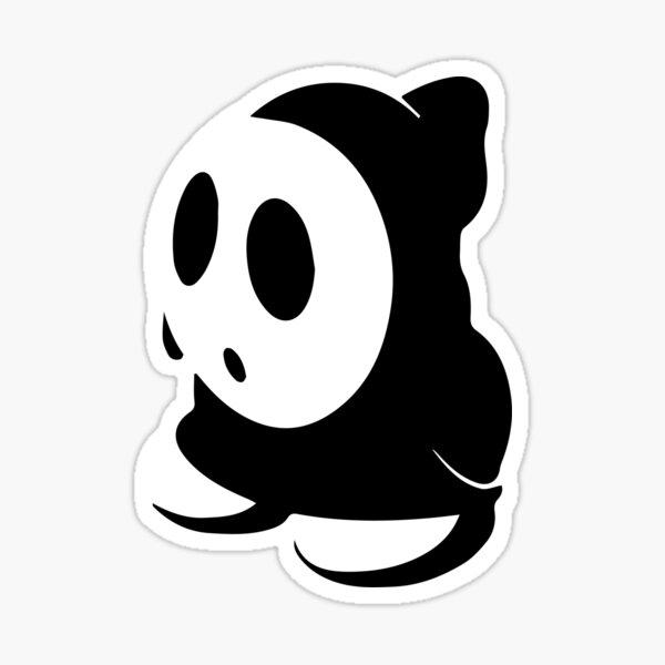 Shy Guy Stencil - Black Sticker