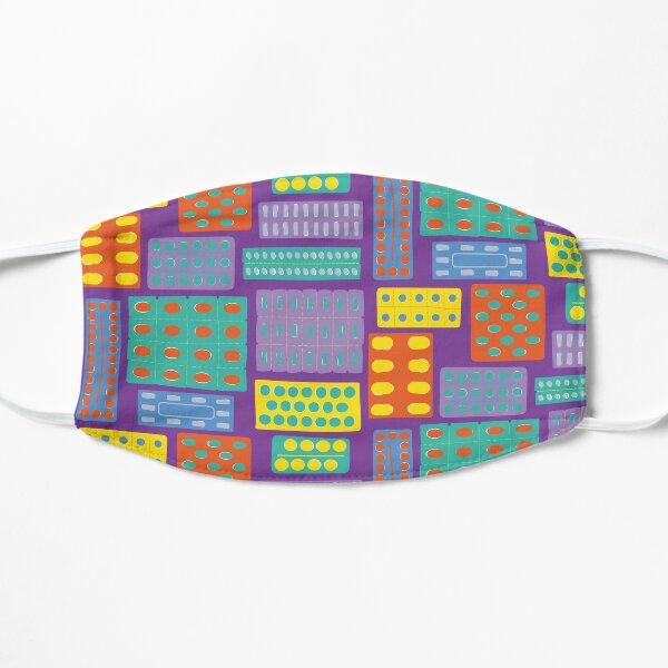 Purple Pills Flat Mask