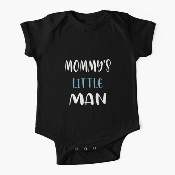 Mommy's little man Short Sleeve Baby One-Piece