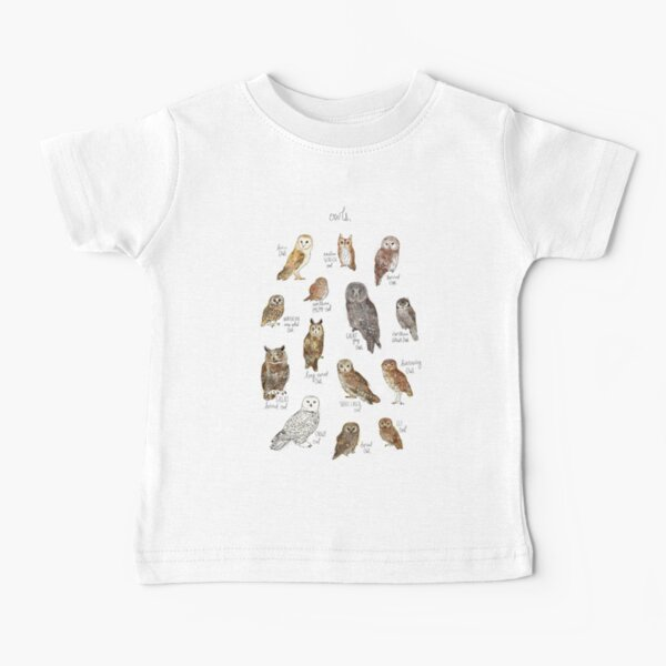 búho barrado Camiseta para bebés