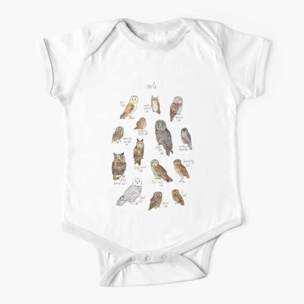 Owls Short Sleeve Baby One-Piece