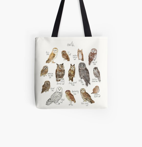 Owls All Over Print Tote Bag