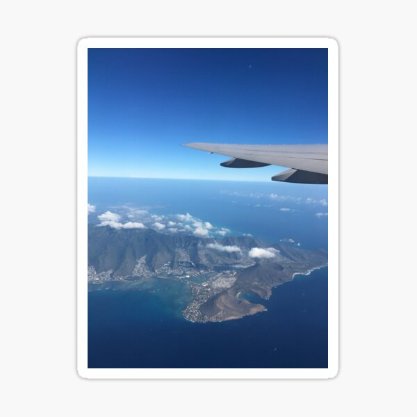 Hawaii from above Sticker