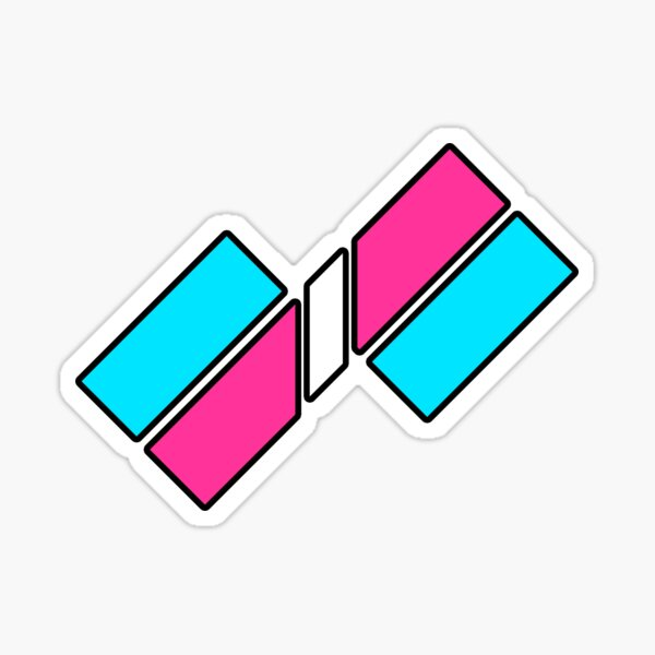 Transcend Gender: Offset Futuristic Sticker