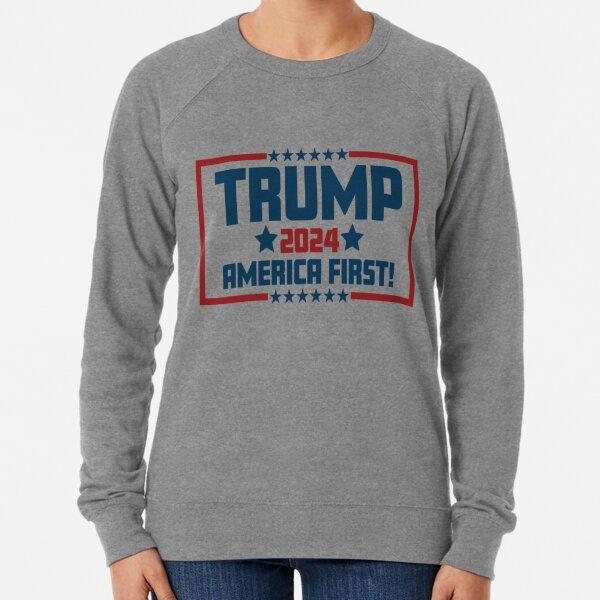 Trump 2024 America First Lightweight Sweatshirt