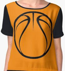Orange Basketball Chiffon Top