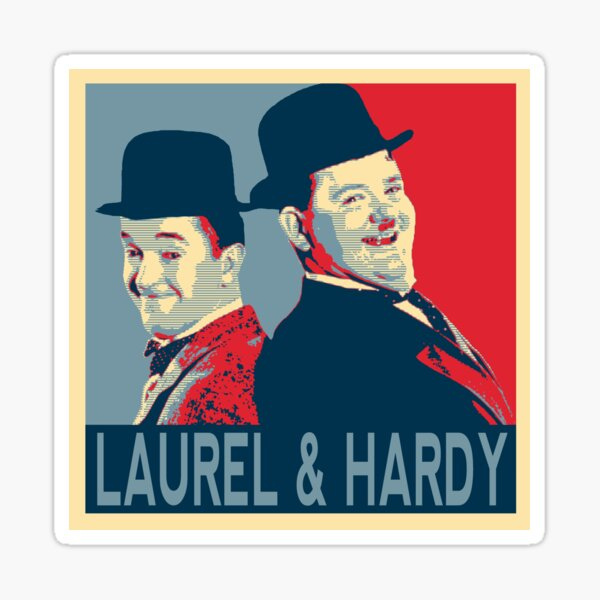 LAUREL AND HARDY, HOPE POSTER Sticker