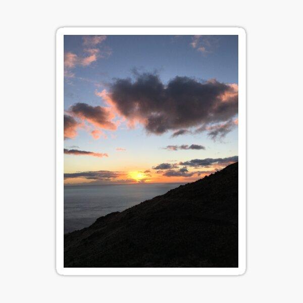 Slanted Sunset Sticker