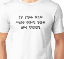 Pokealphabet test Unisex T-Shirt