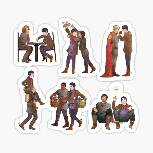 Merlin & the Knights -- sticker set Sticker