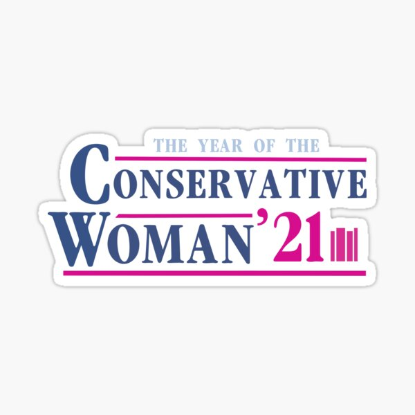 The Year of the Conservative Woman Sticker