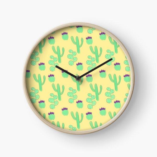Desert Cacti Trio Clock
