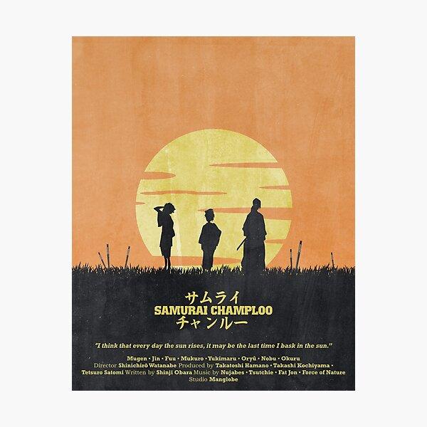 Samurai Champloo - Sun Rise Poster Photographic Print
