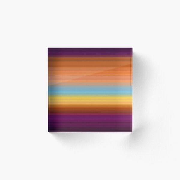 Desert Sunrise Acrylic Block
