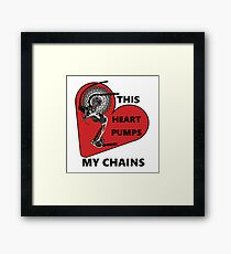 Pump My Chains Framed Print