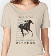 Triple Crown Winners 2015 American Pharoah Women's Relaxed Fit T-Shirt