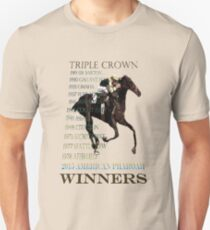 Triple Crown Winners 2015 American Pharoah Unisex T-Shirt