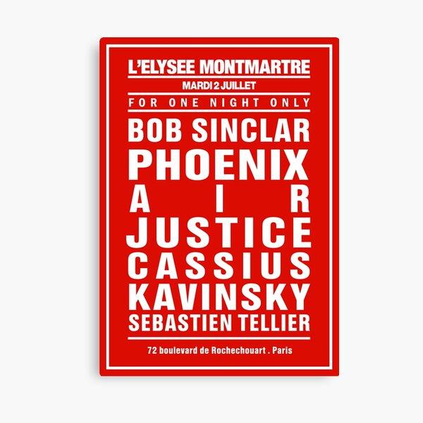 ELYSEE MONTMARTRE Dream Concert Poster: Bordeaux MODEL by La French Touch Canvas Print