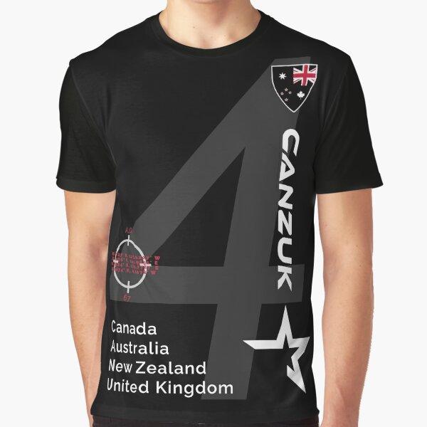 CANZUK Sports Design Graphic T-Shirt