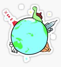 Globetrotter Sheldon Sticker
