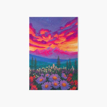 Zodiac Signs As Landscape Paintings - Taurus Art Board Print