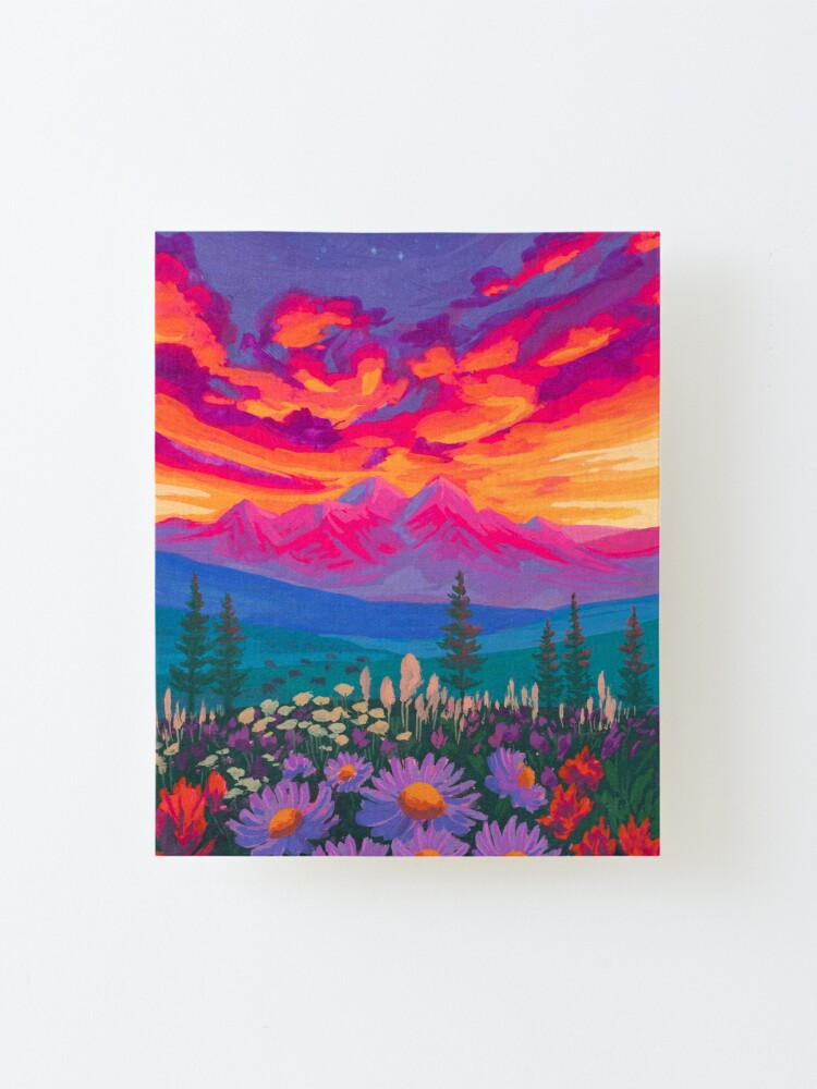 Alternate view of Zodiac Signs As Landscape Paintings - Taurus Mounted Print