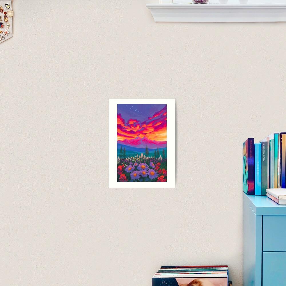 Zodiac Signs As Landscape Paintings - Taurus Art Print