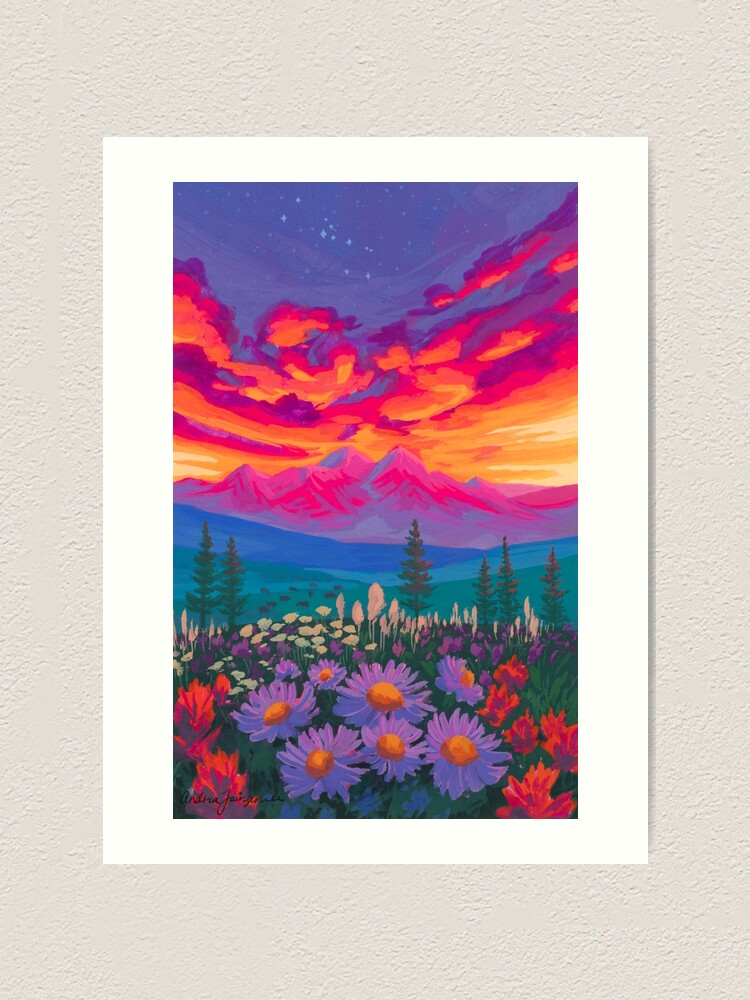 Alternate view of Zodiac Signs As Landscape Paintings - Taurus Art Print