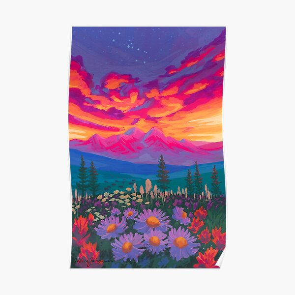 Zodiac Signs As Landscape Paintings - Taurus Poster