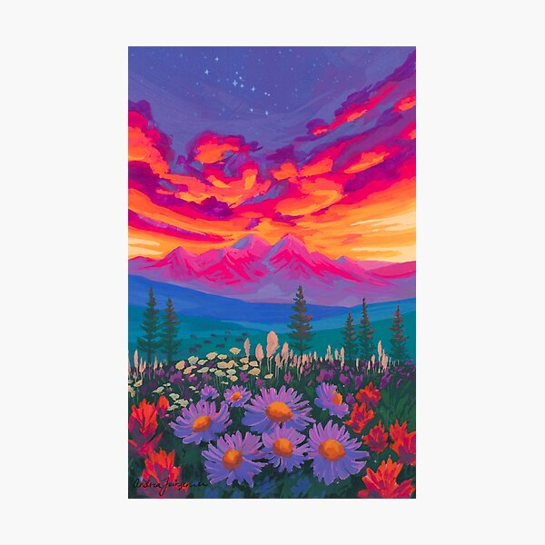 Zodiac Signs As Landscape Paintings - Taurus Photographic Print
