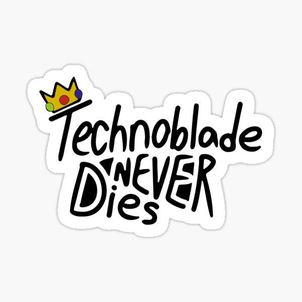 Technoblade Never Dies Sticker