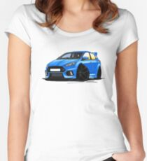 Ford Focus (Mk3) RS Blue Women's Fitted Scoop T-Shirt