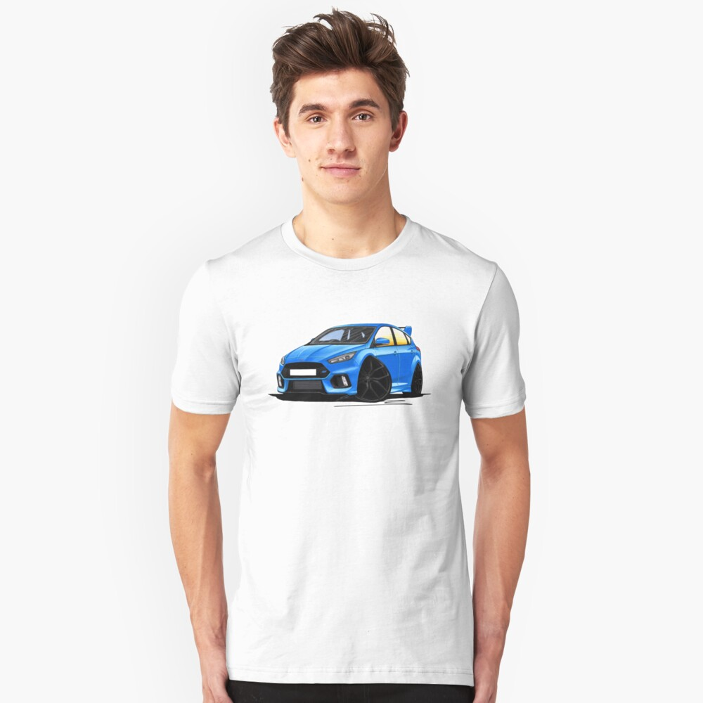 Ford Focus (Mk3) RS Blue Unisex T-Shirt Front