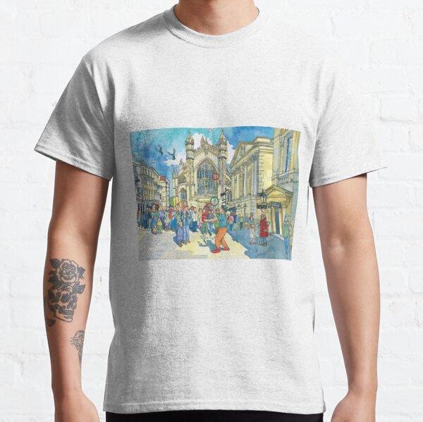 Busking in Bath Abbey Churchyard Classic T-Shirt