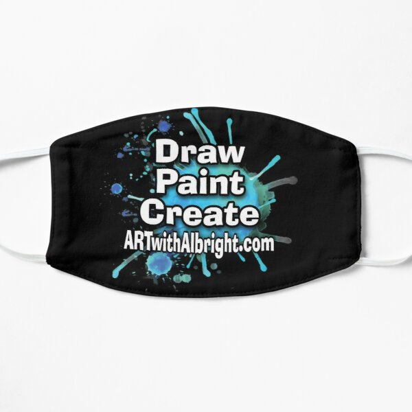Draw. Paint. Create. Logo for ARTwithAlbright.com Flat Mask