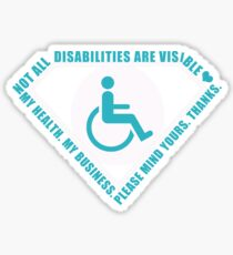 Handicap Superhero Sticker