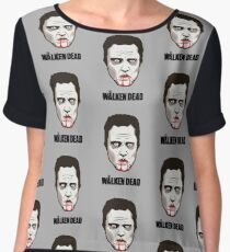 "Christopher Walken - ""The Walken Dead"" Official Women's Chiffon Top"