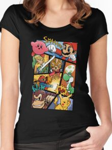 Dairanto Smash Bros Women's Fitted Scoop T-Shirt