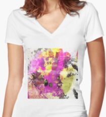 Colour Revival Women's Fitted V-Neck T-Shirt