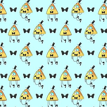 Bill Cipher patterns (Blue) by AidaDoesDoodles