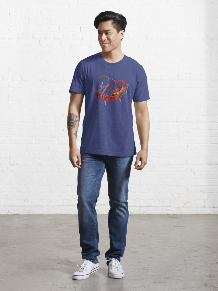 Alternate view of Maverick Rollercoaster Design Essential T-Shirt