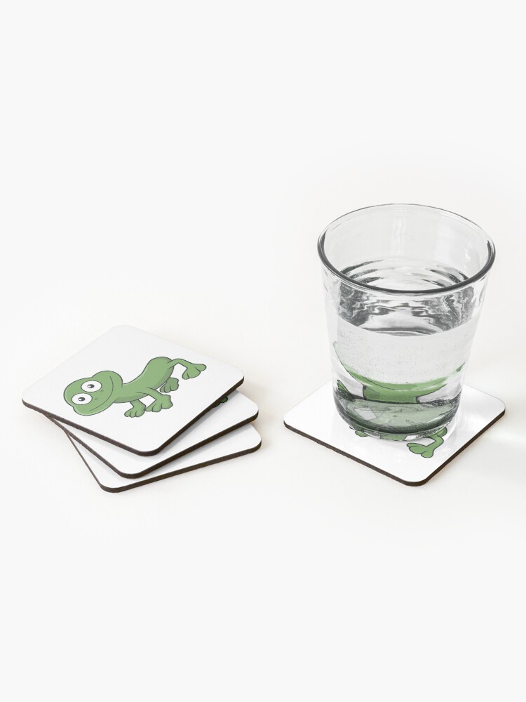 Alternate view of Sausage Frog Coasters (Set of 4)