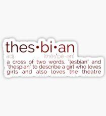 Thesbian Definition Sticker