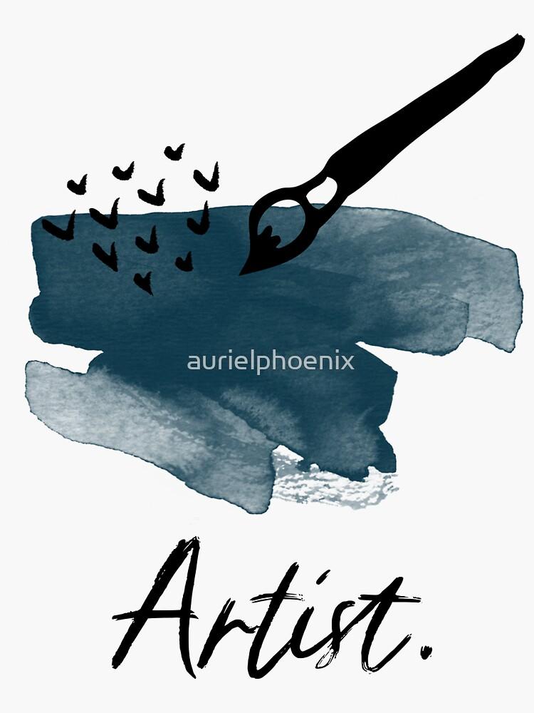 Artist Brush and Paint - Painting Design - Artist Gift by aurielphoenix