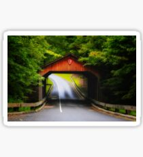 """Through the Covered Bridge"" Sticker"